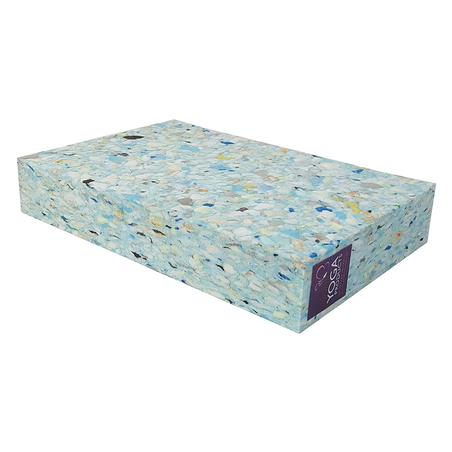 1 x Recycled Chip Foam FULL Yoga Block Ruth White Yoga Products Ltd