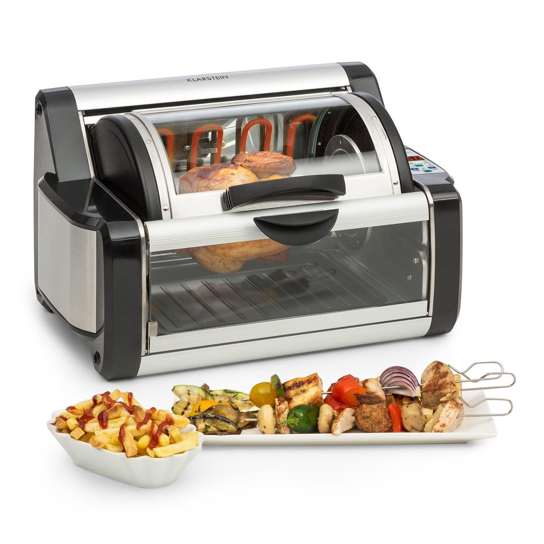 KLARSTEIN Rotisserie 2G • Multi-Use •250-450° • Rotating Oven • Chicken, Kebob, Vegetables • Stainless Steel • 1200W • Black by KLARSTEIN