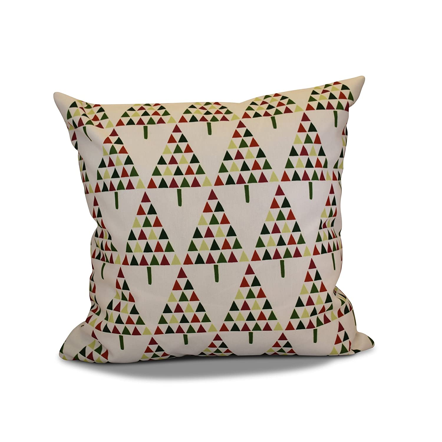 E by design O5PHGN704WH1GR10-16 Printed Outdoor Pillow
