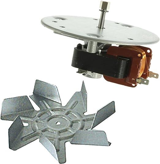 SPARES2GO aspa del ventilador y Motor para horno Homark 01-605203 ...