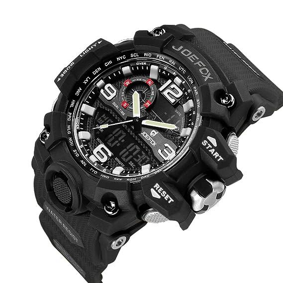 Reloj de Pulsera Digital para Hombre, táctico Militar, Resistente al Agua, analógico,