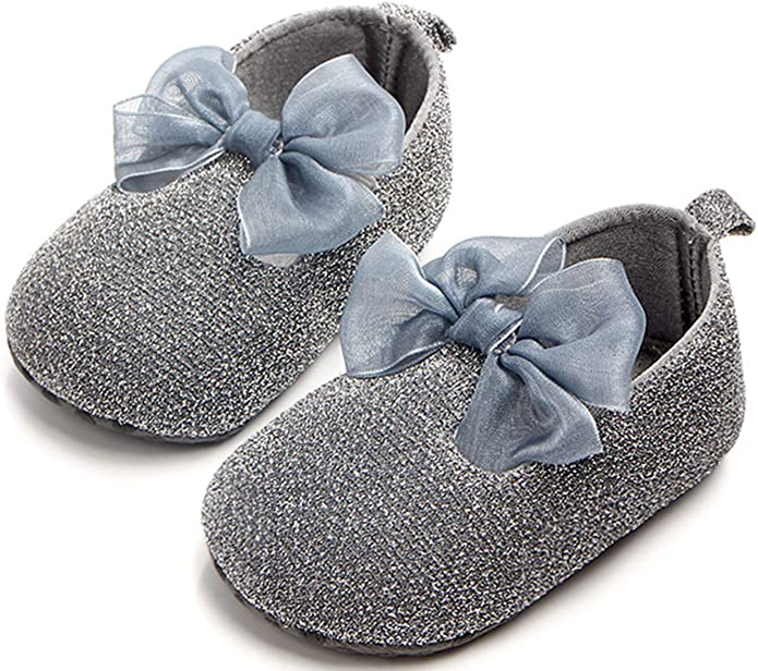 ADIASEN Baby Unisex Baby Shoes,Soft Non-Slip Toddler Shoes,Infants Shoes,Newborn Shoes for Baby Girl Boy,Spring//Fall Baby Shoes Glisten