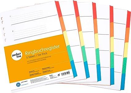 perfect line pack 5 registrador de colores de 5 piezas con ...