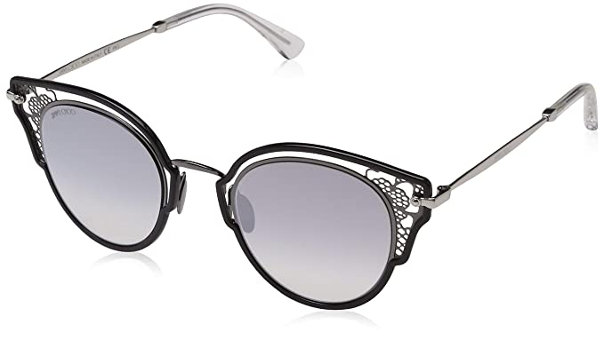 d5466e38ac Image Unavailable. Image not available for. Color: Jimmy Choo sunglasses ( DHELIA-S 284/IC) Silver - Black ...