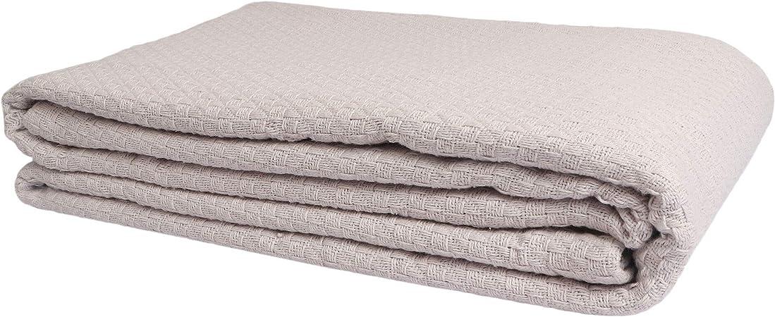 King, White Breathable Cot... Utopia bedding 100/% Premium Woven Cotton Blanket