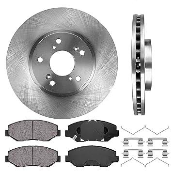 4 Ceramic Pads High-End Disc Brake Rotors Fits: 5lug Front Kit 2 OEM Repl