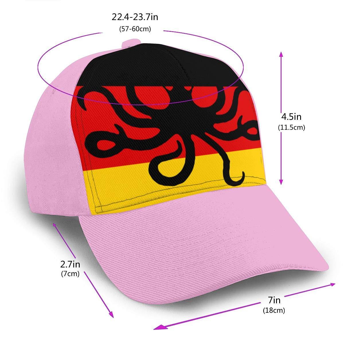 Octopus German Flag Baseball Cap for Men and Women Cotton Cricket Cap