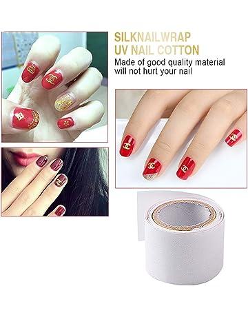 1 Rollo 1 m Seda autoadhesiva Nail Wrap Refuerza el uso de uñas Antes de UV