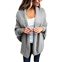 GOSOPIN Damen Strickjacke Frauen Cardigan Loose Winter Lang Strickcardigan S-XXL