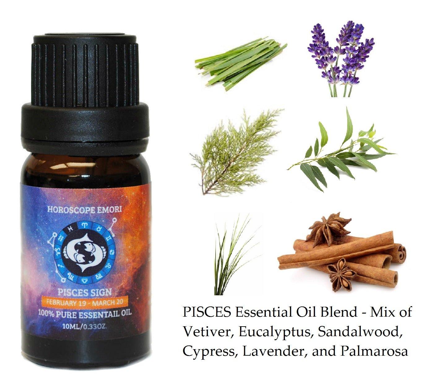 EMORI Pisces (Horoscope) - 100% Pure Therapeutic Grade Essential Oil 10ML