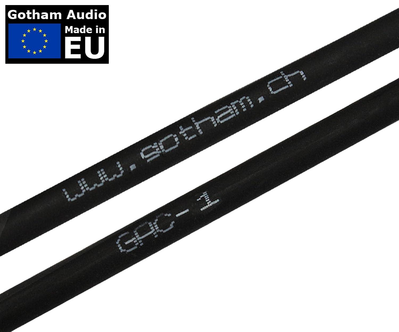 /con de bajo perfil 45/cm / Cable de conexi/ón/ /PREMIUM ultra-flexible doble blindado guitarra baja instrumento de efectos /18/pulgadas Gotham GAC-1/ en /ángulo recto panqueque tipo