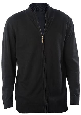 Kariban KBK961 Herren Cardigan mit Reißverschluss Strickjacke, Farbe:Black ;Größen:L