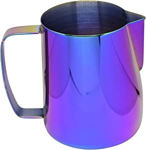Latte Art | Stainless Steel Milk Frothing Pitcher, 20 oz, Multicolor Finish