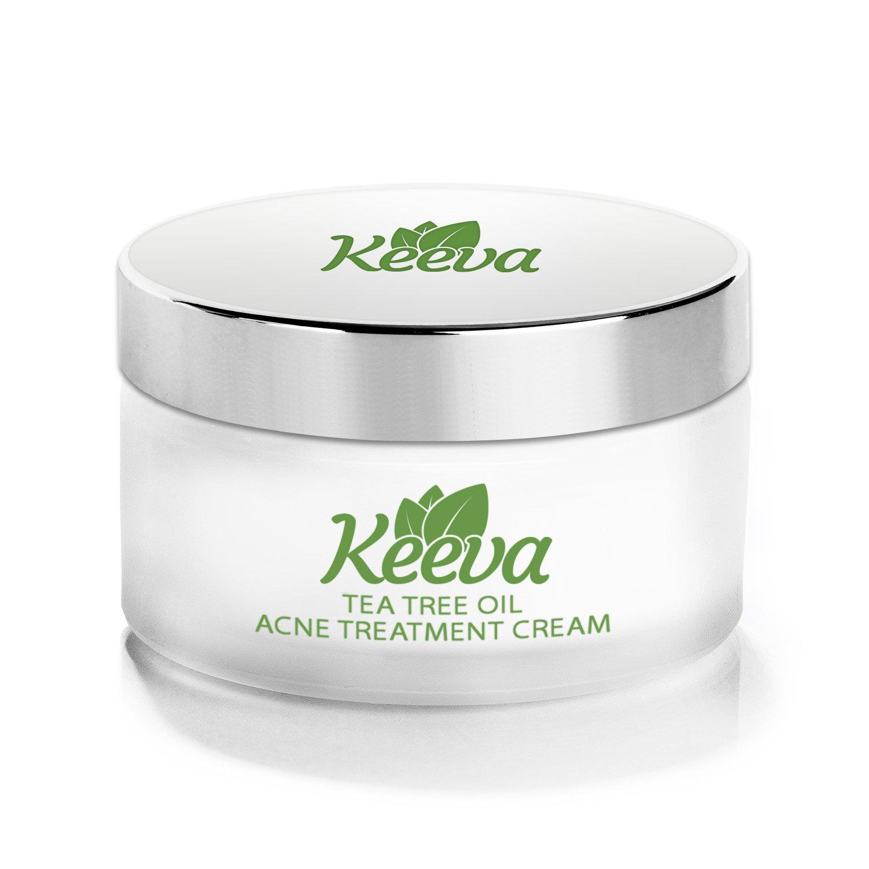 Keeva Tea Tree Oil Acne Treatment Cream, 30gm Keeva Organics NA