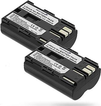 Fosmon - Juego de 2 baterías de ion de litio para Canon EOS 50D ...