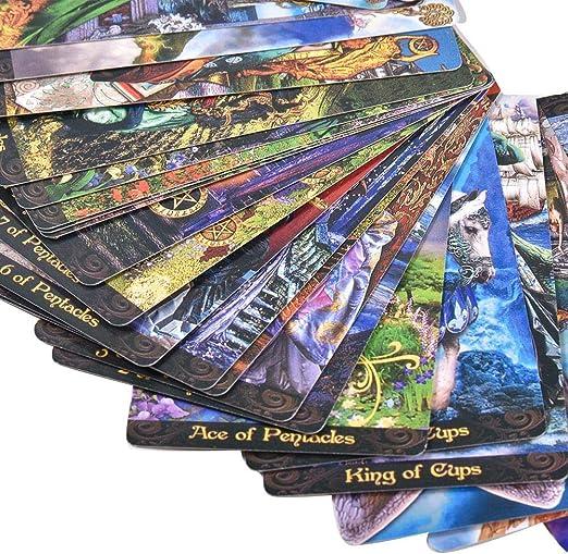 Tarot Illuminati Kit – Un juego de cartas de tarot a todo color, cartas de predicción del destino (inglés): Amazon.es: Bebé