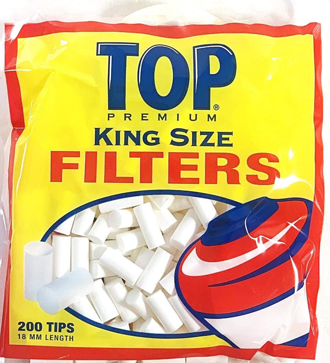 Top Premium Cigarette Filter Tips King Size 18mm 200 Pack