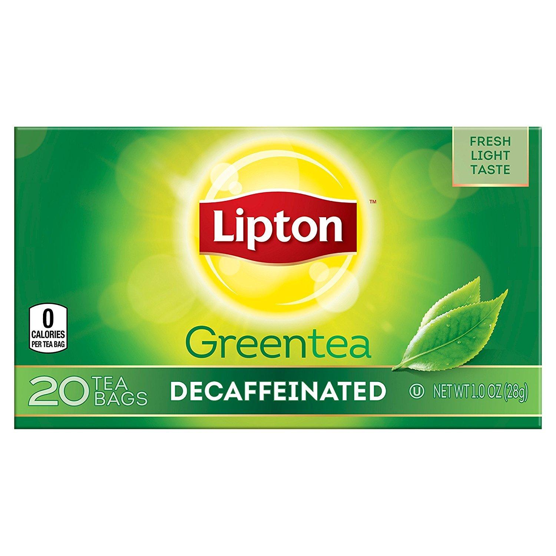 Lipton Green Tea Bags, Decaffeinated, 20 ct Pack of 6