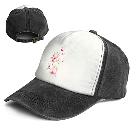 db52690bee7 Amazon.com  RGECXA Unisex Fashion Baseball Cap Watercolor Painting Magnolia  Flower Adjustable Travel and Leisure Hat  Clothing