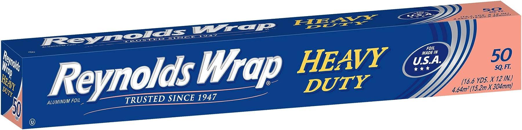 Reynold/'s Wrap Heavy Duty Aluminum Foil 50 sq ft Pack of 2