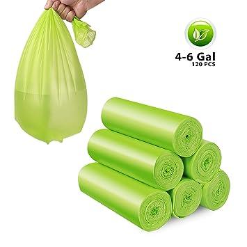 Amazon.com: Bolsas de basura, 4 – 6 galones de reciclaje y ...