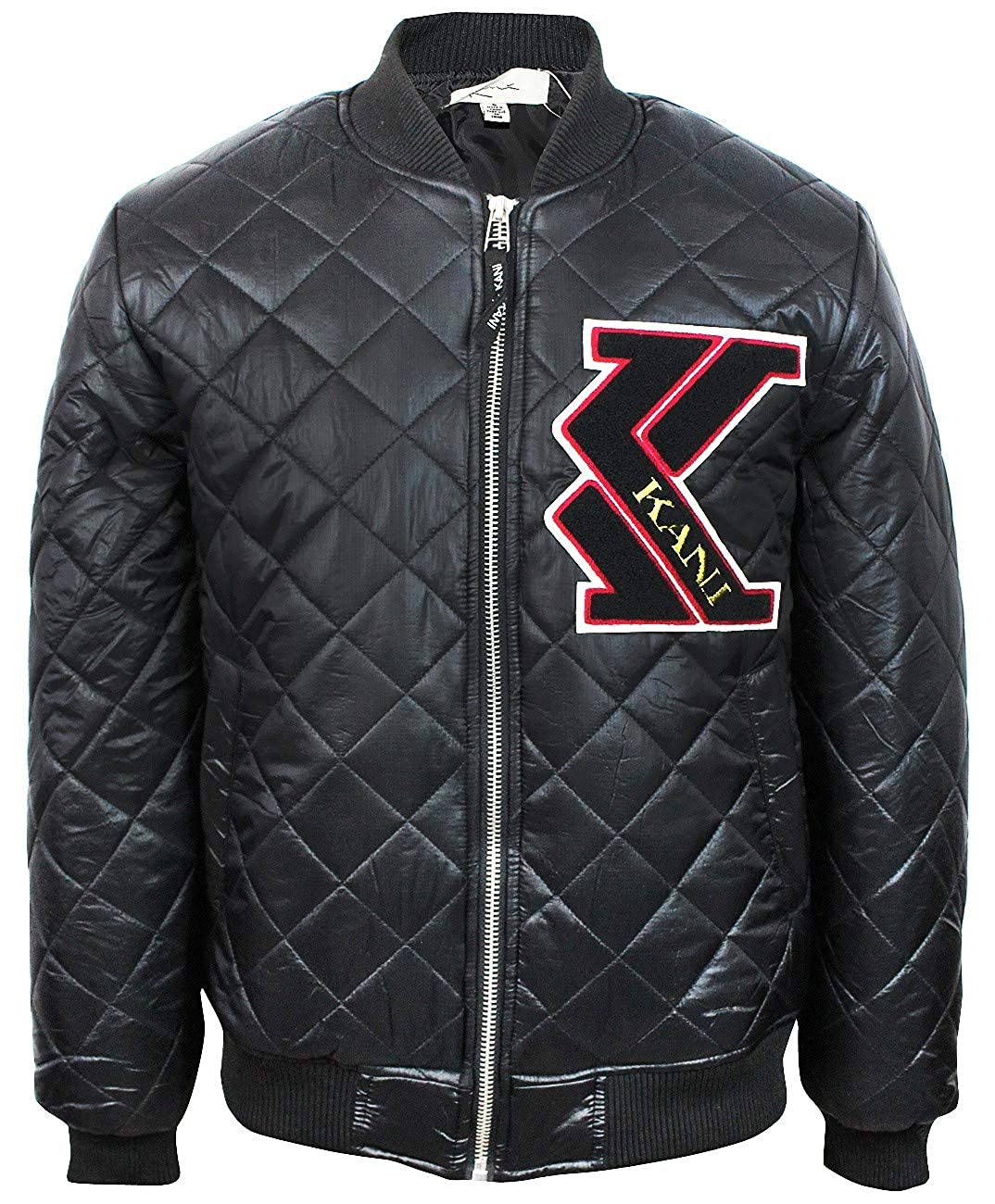 9795118fc Karl Kani Men's Quilted Insulated Zip up Jacket KK1709 Black at ...