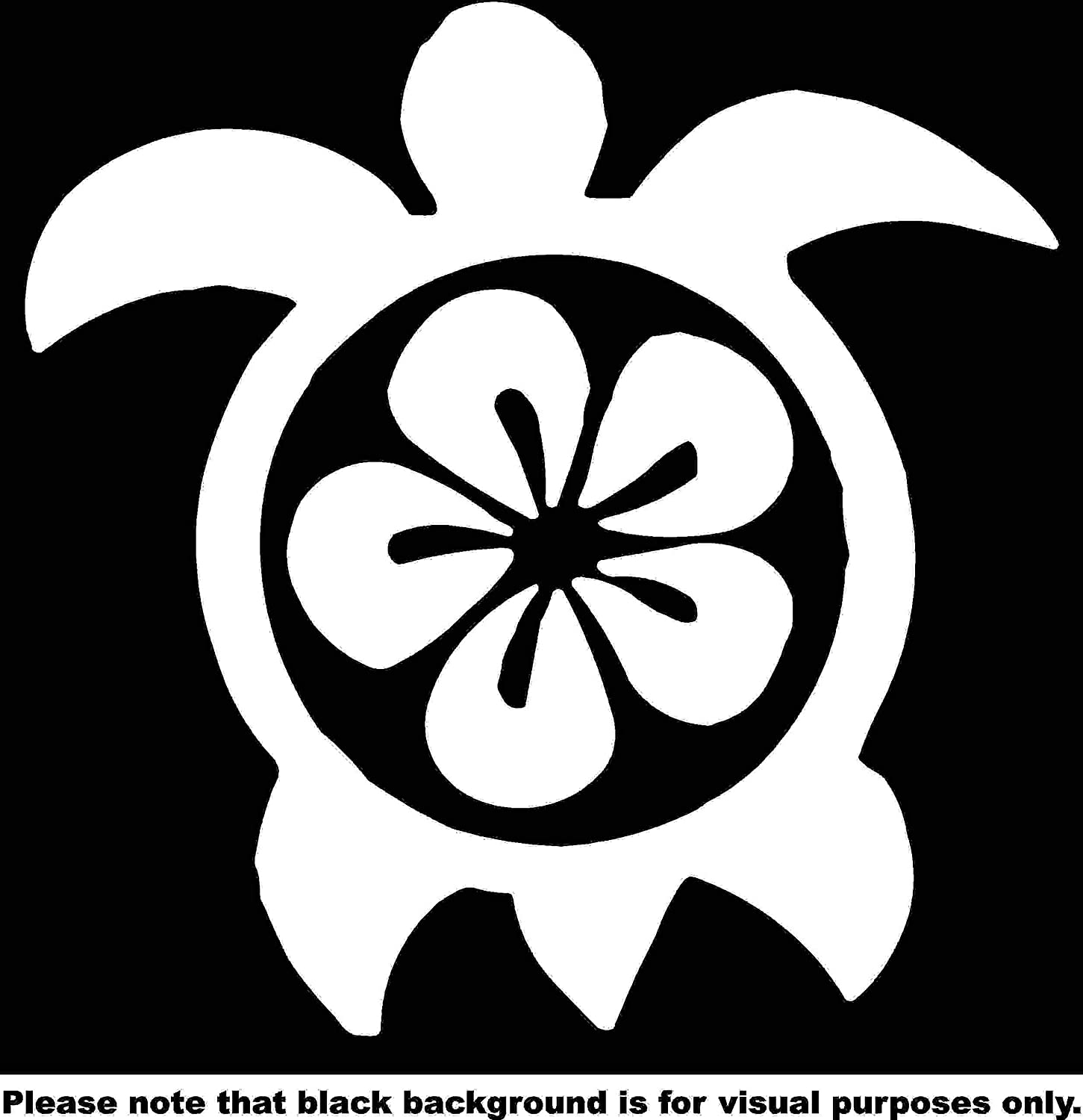 Animal Hawaiian Turtle Plumeria Flower Green Sea Car Window Tumblers Wall Decal Sticker Vinyl Laptops Cellphones Phones Tablets Ipads Helmets Motorcycles Computer Towers V and T Gifts