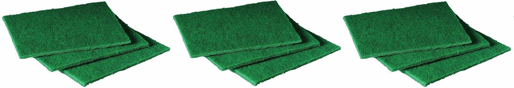 Scotch-Brite 105 General Purpose Scouring Pad, 6'' Length x 4-1/2'' Width, Green (Case of 40) (3-Case of 40))