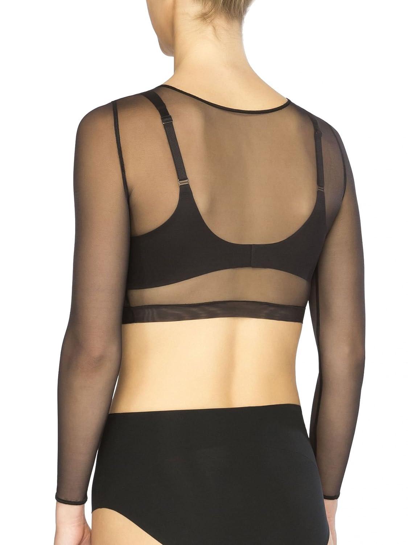 cc6fd891c0602 SPANX Women s Sheer 3 4 Sleeve Crop Top at Amazon Women s Clothing store