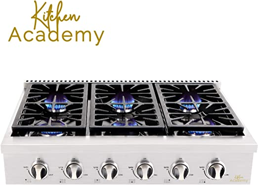 Amazon.com: Kitchen Academy HRT3618U - Encimera de gas de ...