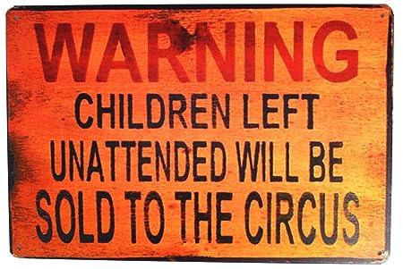 Sumik Advertencia niños a la izquierda sin supervisión se ...