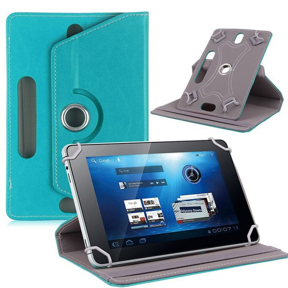 Lightweight Smart Cover Holder for 10 inch Android Tablet PC Leather Smart Folio Case Universal 10inch Tablet Case Cover with Stand Function Multi-Angle Sky Blue
