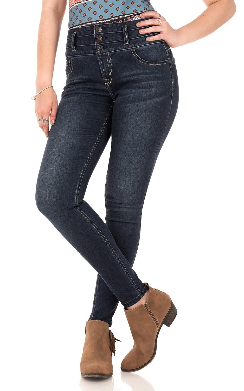 WallFlower Womens Juniors High-Waisted Sassy Skinny Jeans