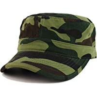 Trendy Apparel Shop Oversize XXL Flat Top Jeep Style Army Cap