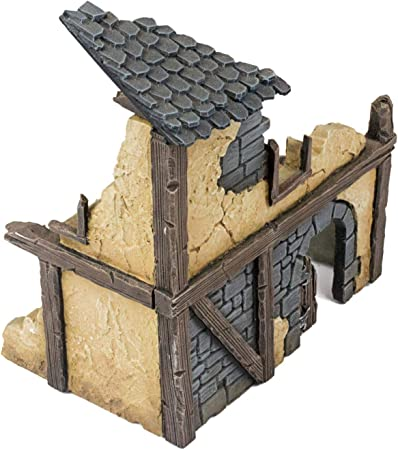 War World Gaming Fantasy Village - Casa 1 en ruinas - 28mm ...