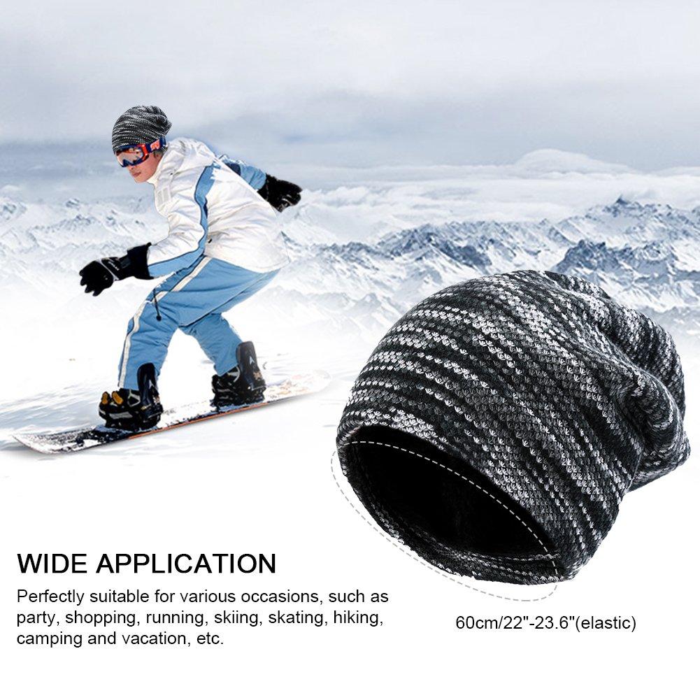 VBIGER Beanie Hat Knit Hat Winter Skull Wool Hat Windproof For Men & Women (Grey)