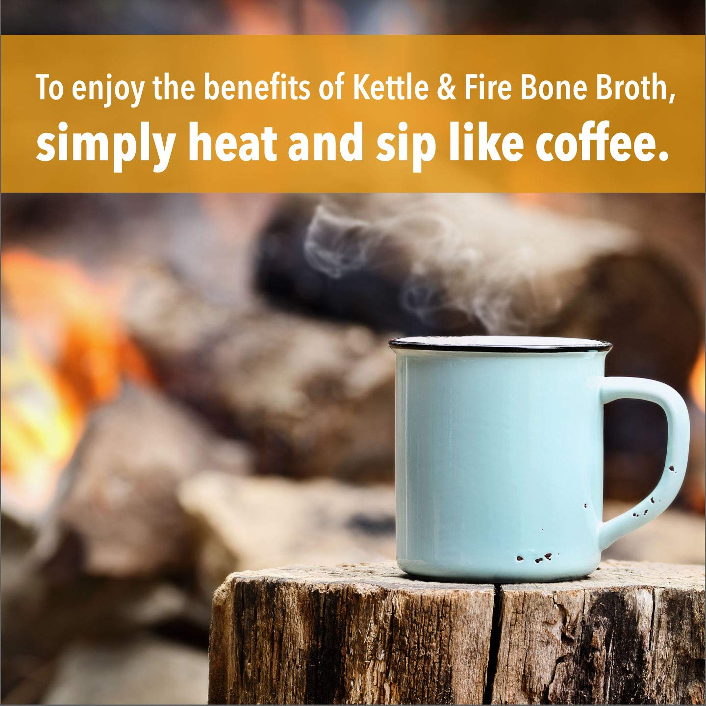Chicken Bone Broth Soup by Kettle and Fire, Pack of 4, Keto Diet, Paleo Friendly, Whole 30 Approved, Gluten Free, with Collagen, 10g of protein, 16.2 fl oz by Kettle & Fire (Image #7)