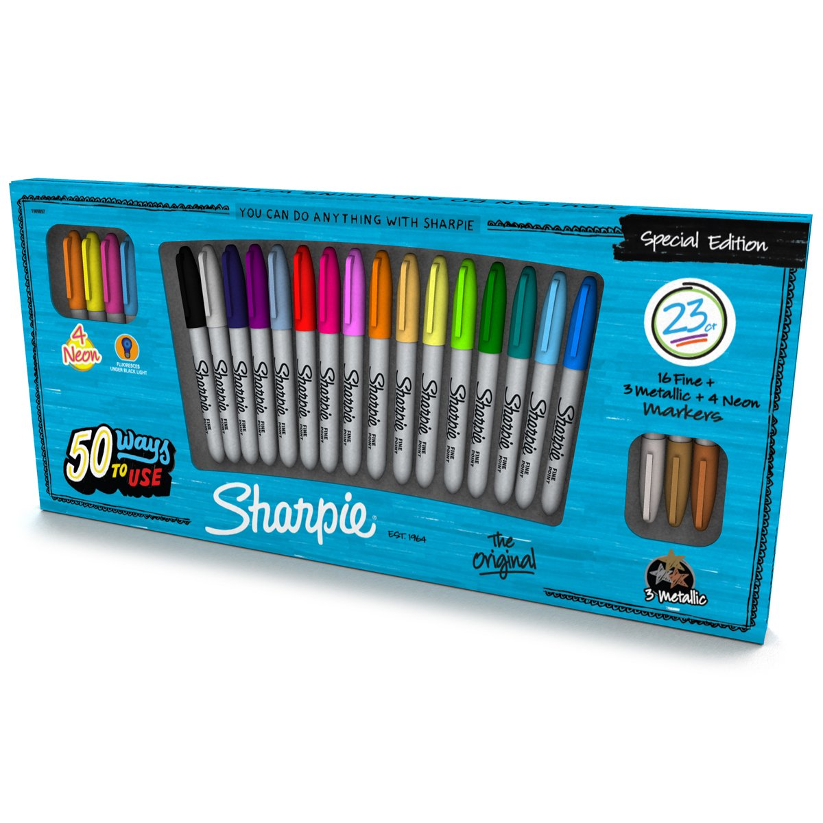 Sharpie 1926406 Special Edition 23 Piece Permanent Marker Pack (1909897) by Sharpie