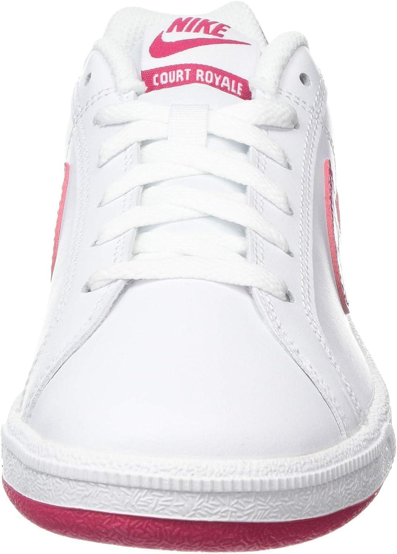 Nike Wmns Court Royale, Scarpe da Tennis Donna Bianco White Wild Cherry Noble Red 119