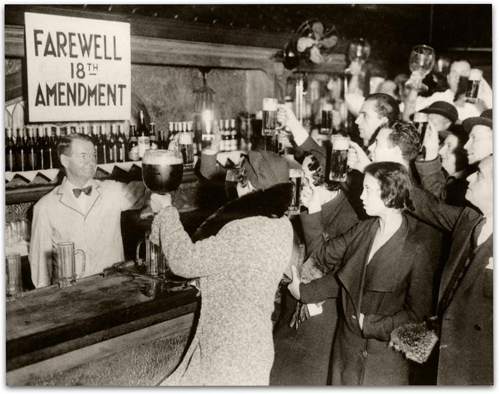End of Prohibition - Farewell 18th Amendment - 11x14 Unframed Art Print - Great Home Bar Decor Under $15