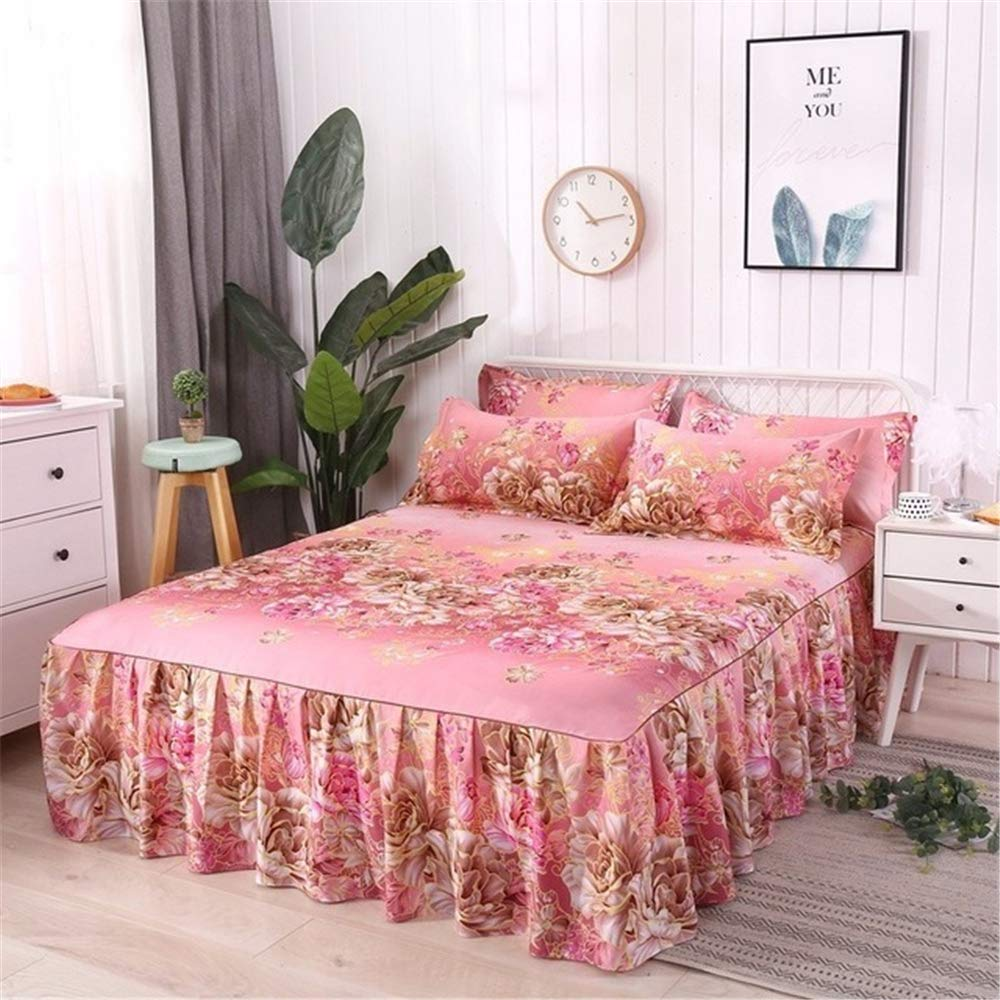 FENGDONG Style Cloud Bed Spread Bed Skirt Printing Bedding BedCover Pillowcases by FENGDONG