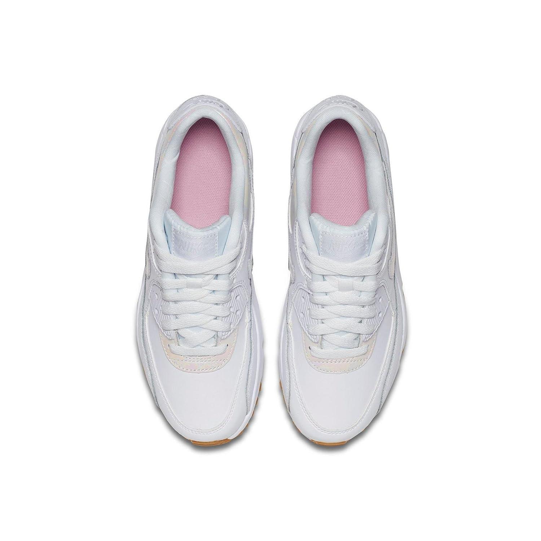 16d034d4313f ... prism pink gum light brown white huarache  official supplier 7c2c6  1c8c7 Amazon.com NIKE Girls Air Max 90 LTR SE GP Running ...