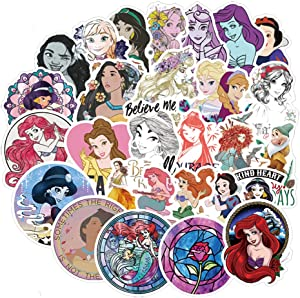 Various Sweet Princess Sticker 100 PCS, Cartoon Laptop Stickers, Vinyl Computer Waterproof Water Bottles Skateboard Luggage Decal Graffiti Patches Decal(Sweet Princess)