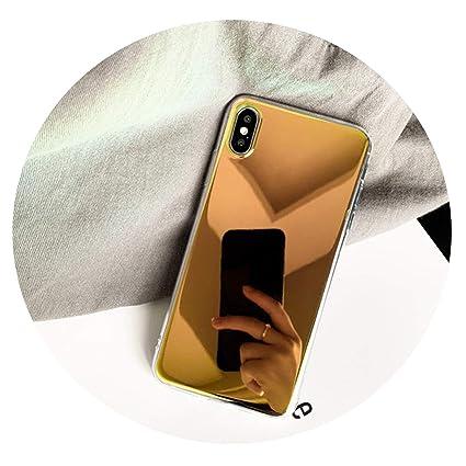 Amazon.com: Funda de lujo con espejo láser para iPhone X XR ...