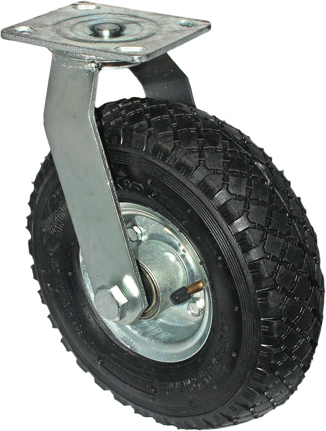 2x Lenkrollen 2x Bockrollen 260mm x 85mm 3.00-4 Rad   Luftbereifung Reifen