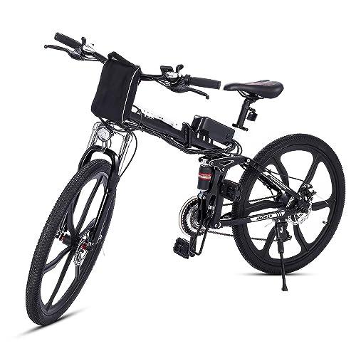 Teamyy Vèlo Homme Pliant-Electrique Mountain Bike Noir Bicyclette Pliable 26 Pouces Vitesse Jusqu'à 30 km/h P?500W …
