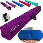 Marfula Extra Stability Wood Folding Balance Beam Gymnastics Floor Beam for