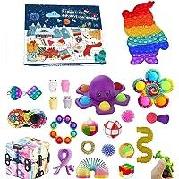 Pop Bubble Fidget Adventskalender Speelgoedset, 24DAGEN Kerst Aftelkalender Sensorische Fidget Pack, Anti-Angst Fidget…