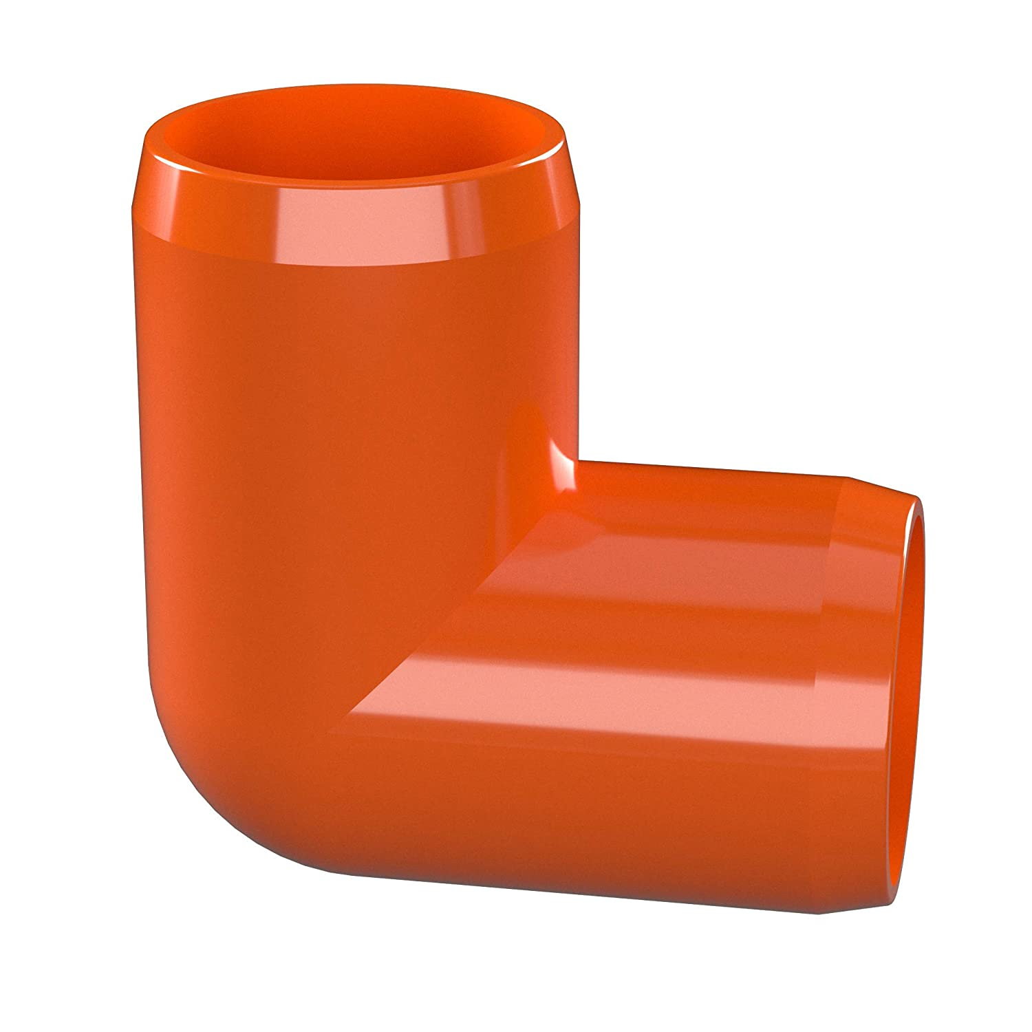 Furniture Grade Orange 1 Size Pack of 4 1 Size FORMUFIT F00190E-OR-4 Elbow PVC Fitting 90 Degree