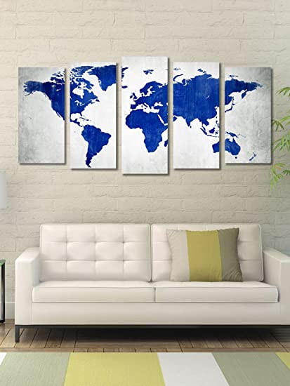 999store multiple framed printed blue blank world map canvas 999store multiple framed printed blue blank world map canvas painting gumiabroncs Gallery